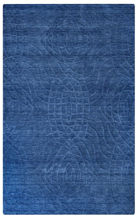 Uptown Abstract Ripple Pattern Wool Area Rug In Blue 10 Area Rug Pattern