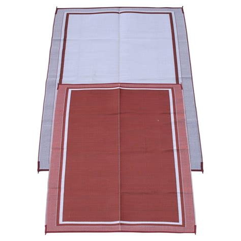 Outdoor Rugs Mats Fireside Patio Mats Cranberry 6 Ft X 9 Ft Polypropylene Indoor Outdoor Reversible