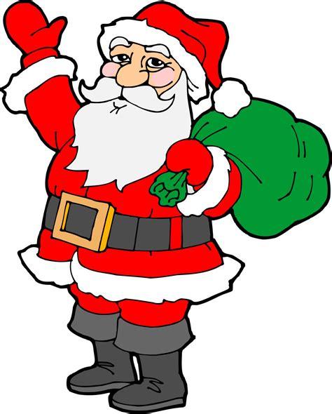 moving santa claus easy drawings