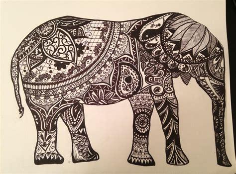 sharpie tribal tattoo elly the tribal elephant medium sharpie tattoos