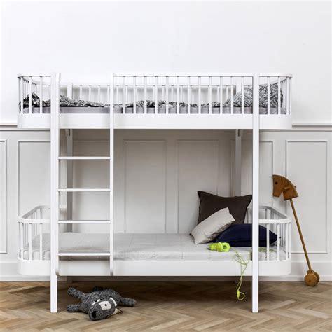 scandinavian bed scandinavian white or oak white bunk bed by nubie modern