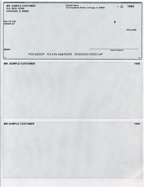 Green Lines Laser Business One Per Page Voucher Checks Deluxe Check Printing Template