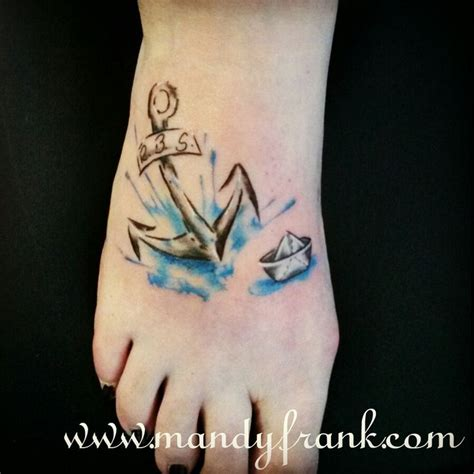 watercolor tattoo hamburg aquarell watercolor hamburg mandyfrank anchor