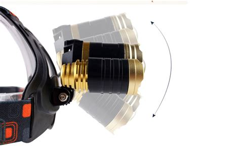 Senter Kepala Led Headl Cree Xml T6 10000 Lumens Golden led headl cree xml t6 10000 lumens golden