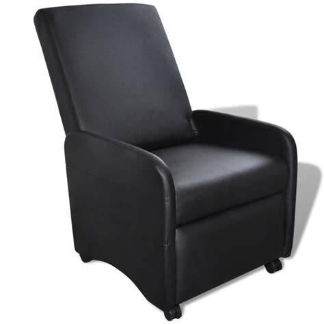 faux leather recliner covers foldable faux leather recliner armchair in black buy