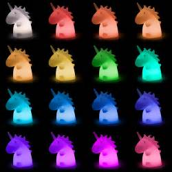 Home Colors Interior Giant Super Kawaii Unicorn Lampu Thinkgeek