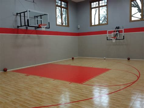 basement basketball court residential indoor indoor basketball court sportprosusa