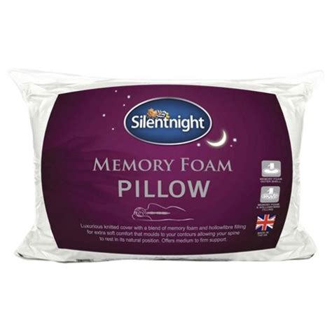 Tesco Memory Foam Pillow buy silentnight memory foam pillow from our pillows range