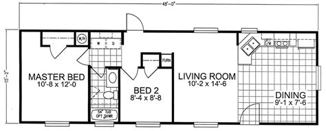 Bath Floor Plan second unit 16 x 48 2 bed 1 bath 744 sq ft little