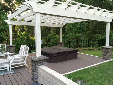 patio designs with faux and brick traditional