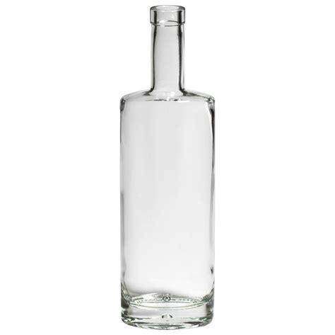 750 ml oval clear glass liquor bottle packaging options
