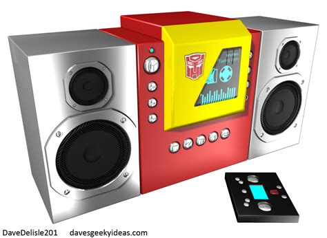 autobot blaster mini bookshelf stereo system dave s