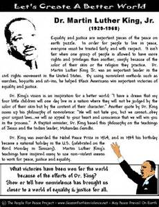 worksheets printable mlk quotes quotesgram quotes