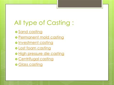 pattern casting definition sand casting