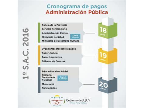 cronogeama de pago de la provincia del chubut agosto 2016 cronograma de pago de aguinaldo a empleados de la