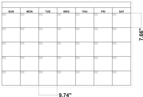 Dimensions calendar dry erase boards by billyboards