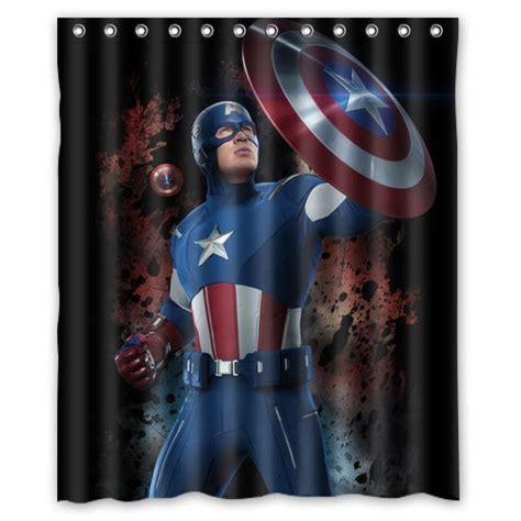 captain america curtains captain america avenger marvel superhero design 2 shower