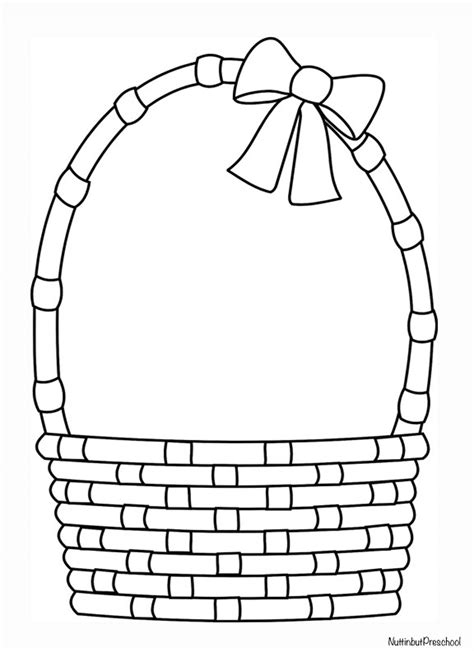 easter basket pattern nuttin but preschool