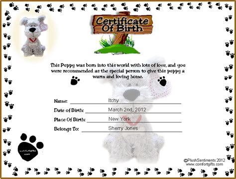 Puppy Birth Record Pin Puppy Birth Record Sheet On