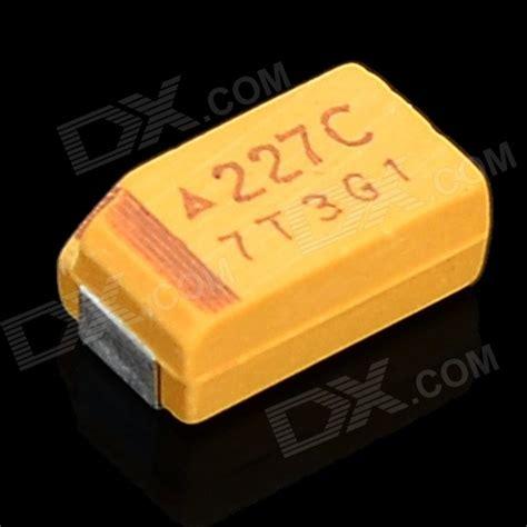 capacitor tantalum yellow 200uf 16v smd tantalum capacitors yellow 15 pcs free shipping dealextreme
