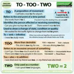 to too or two woodward english