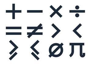 basic math symbols vectors free vector