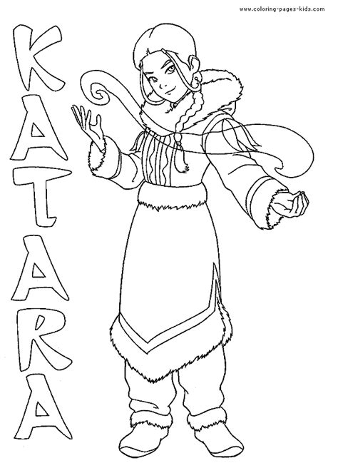avatar the last airbender color page coloring pages for