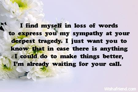 comforting words of sympathy to write in a card words of deepest sympathy quotes quotesgram