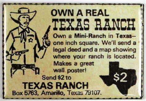 real texas ranch fridge magnet vintage comic book ad