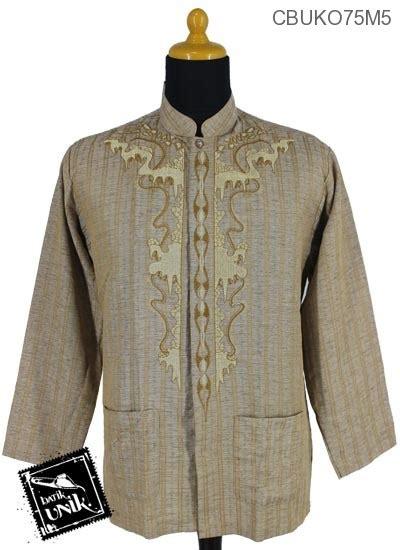 Koko Muslim Motif Batik Kebumen baju muslim koko motif stalaktit wulu koko batik murah