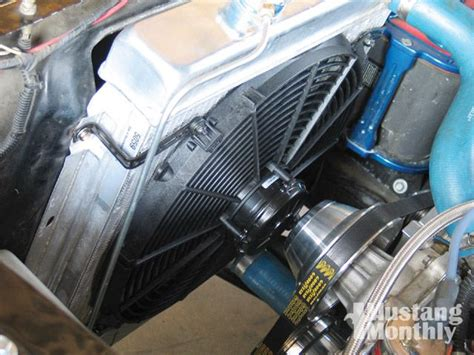 low profile electric radiator fan how to install an electric fan in your mustang mustang