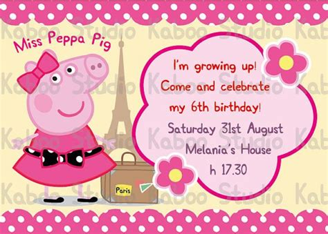 peppa pig invitation card template peppa pig invitations templates