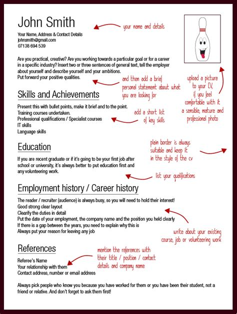 templates for writing a good cv map cv template