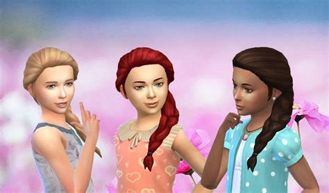 sims 4 child hair cc my stuff french braid over shoulder for girls