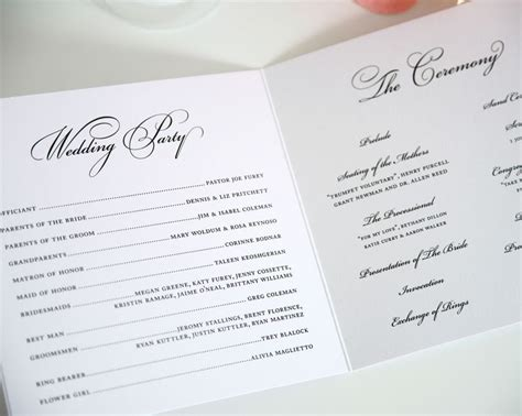 531 program template de 25 bedste id 233 er inden for wedding ceremony program