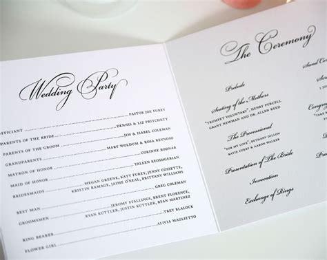 Example Wedding Programs – Who Should You Include in Your Wedding Program?   Blog