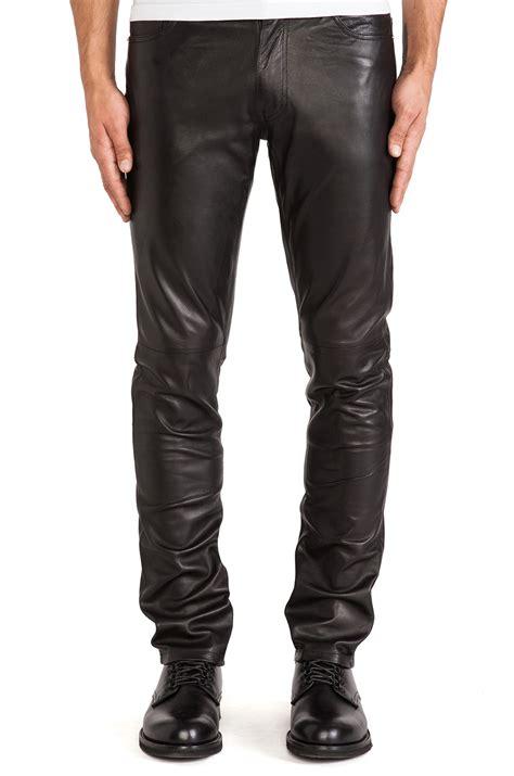 biker pants buy mens leather tapered fit biker pants online
