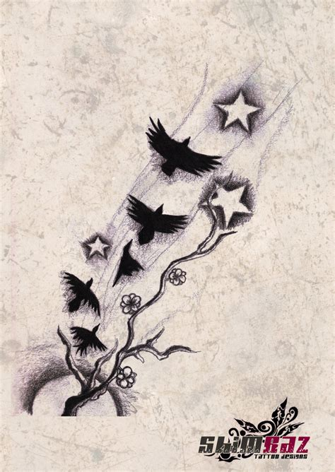 ravens on flight tattoo 1 by gradle on deviantart