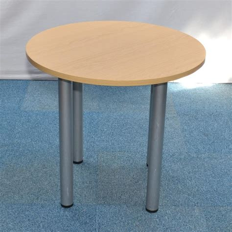 Circular Meeting Table Oak 800d Circular Meeting Table