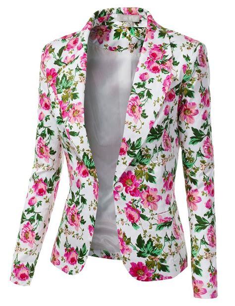 Blezer Flower floral print blazer womens baggage clothing