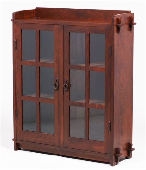 stickley bookcase for sale gustav stickley two door bookcase 523 california