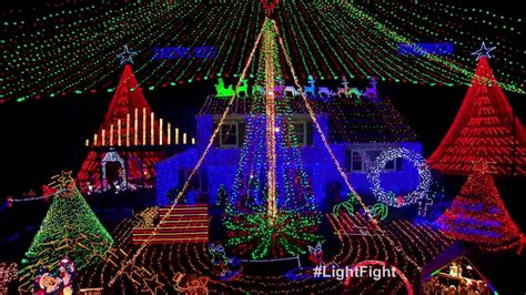 kloos family light show the great christmas light fight
