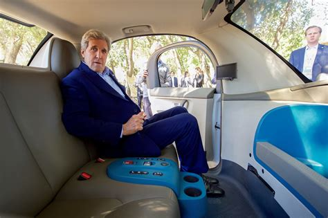 driving comfort file secretary kerry sits inside one of google s self