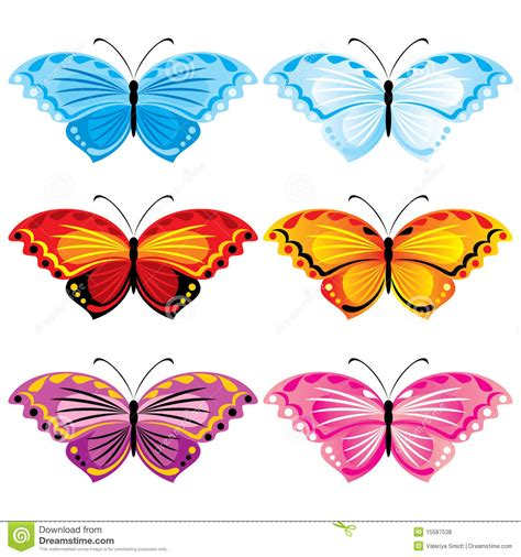 Baterflay Set butterfly set royalty free stock photos image 15587538