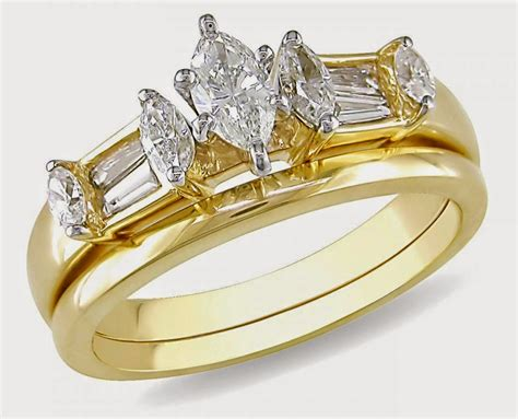 oval yellow gold wedding ring sets for design