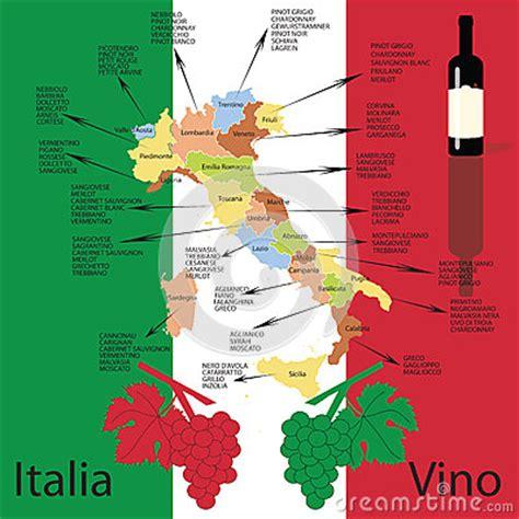 italiaanse wijnkaart stock illustratie afbeelding