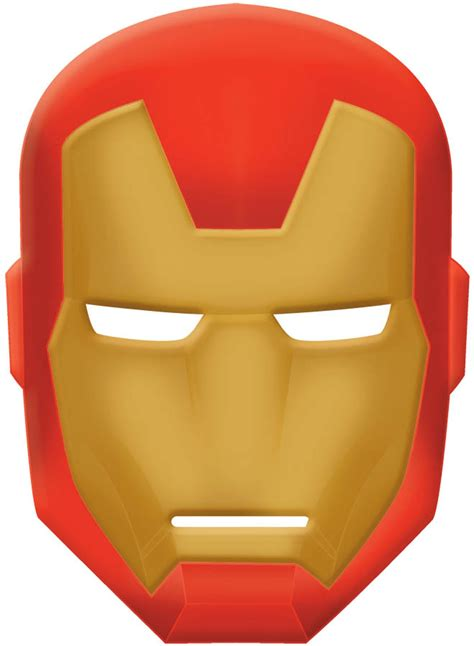 ironman mask template assemble iron mask buycostumes