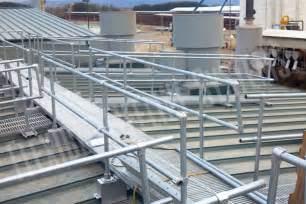 roof handrail handrail walkway systems for roofs fall arrest