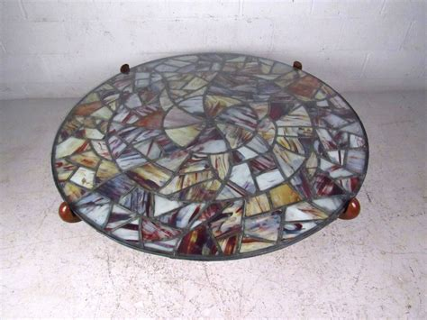 Modern Stained Glass Table Ls mid century modern walker stained glass coffee table