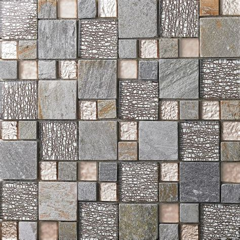 mosaic wall bathroom grey glass mosaic tile natural stone tiles marble tile